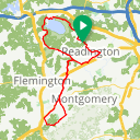Map image of a Route from January 29, 2018