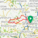 Map image of a Route from February  2, 2018