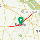 Map image of a Route from February  8, 2018