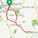 Map image of a Route from February 11, 2018
