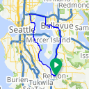 Map image of a Route from February 13, 2018