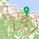Map image of a Route from February 14, 2018
