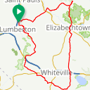 Map image of a Route from February 16, 2018