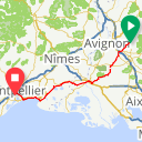 Map image of a Route from February 20, 2018