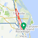 Map image of a Route from February 22, 2018