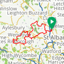 Map image of a Route from February 23, 2018