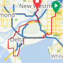 Map image of a Route from February 28, 2018