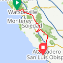Map image of a Route from March  2, 2018