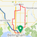 Map image of a Route from March  3, 2018