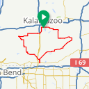 Map image of a Route from March  4, 2018
