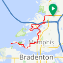 Map image of a Route from March  6, 2018