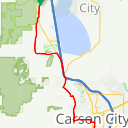 Map image of a Route from March  7, 2018
