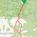Map image of a Route from March  9, 2018