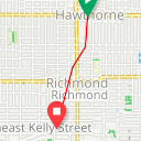 Map image of a Route from March 13, 2018