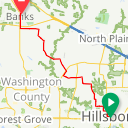 Map image of a Route from March 14, 2018