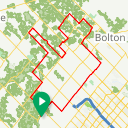 Map image of a Route from March 15, 2018