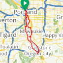 Map image of a Route from March 16, 2018