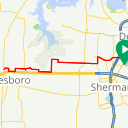 Map image of a Route from March 18, 2018