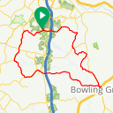 Map image of a Route from March 23, 2018