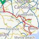 Map image of a Route from March 24, 2018