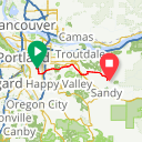 Map image of a Route from March 27, 2018