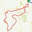 Map image of a Route from March 30, 2018