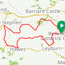 Map image of a Route from April  1, 2018