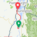 Map image of a Route from April  2, 2018