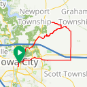 Map image of a Route from April  4, 2018