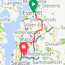 Map image of a Route from April  9, 2018
