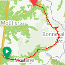 Map image of a Route from April 10, 2018