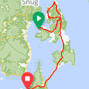 Map image of a Route from April 14, 2018