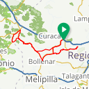 Map image of a Route from April 15, 2018