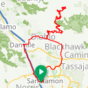 Map image of a Route from April 16, 2018