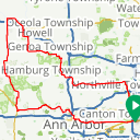 Map image of a Route from April 17, 2018