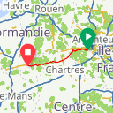 Map image of a Route from April 18, 2018