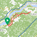 Map image of a Route from April 20, 2018