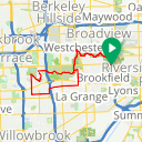 Map image of a Route from April 21, 2018