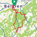 Map image of a Route from April 22, 2018