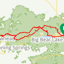Map image of a Route from April 24, 2018