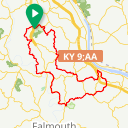Map image of a Route from April 28, 2018