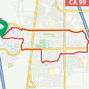 Map image of a Route from April 29, 2018