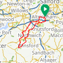 Map image of a Route from June 23, 2013