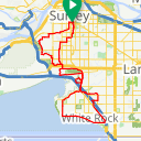Map image of a Route from May  1, 2018
