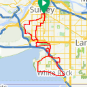 Map image of a Route from May  3, 2018