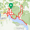 Map image of a Route from May  7, 2018