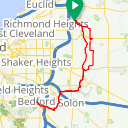 Map image of a Route from May 11, 2018