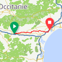 Map image of a Route from May 15, 2018