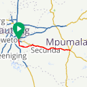Map image of a Route from May 16, 2018