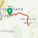 Map image of a Route from May 18, 2018